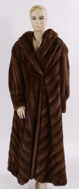 Perry Ellis Floor Length Mink Coat