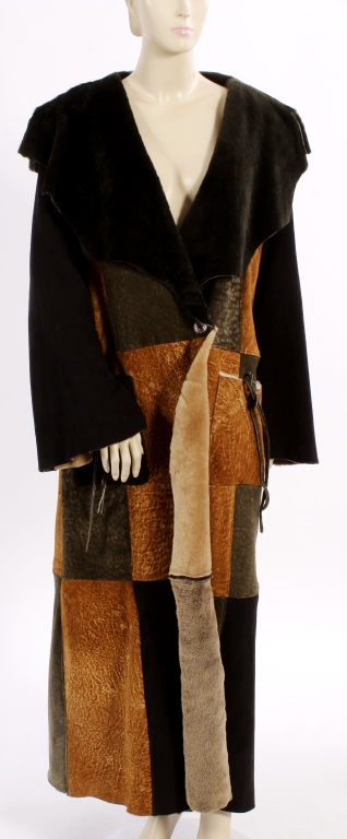 Shearling Patchwork Coat by The Keenam Leather Co.