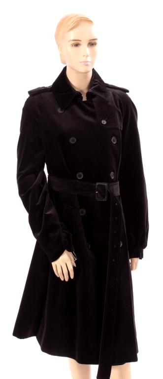 Burberry Velvet Trench Coat