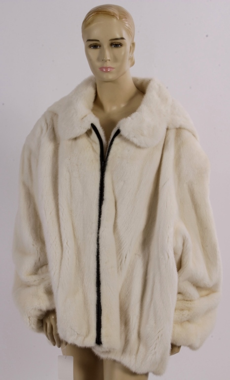 White Mink Coat with Hood