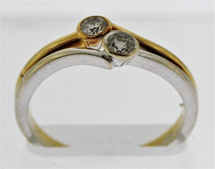 18K Gold & Diamond Ring, England 20th C.