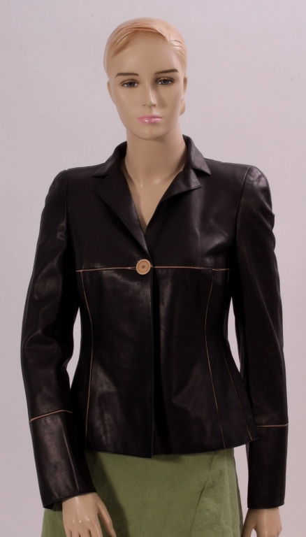 Akris Black Leather Jacket