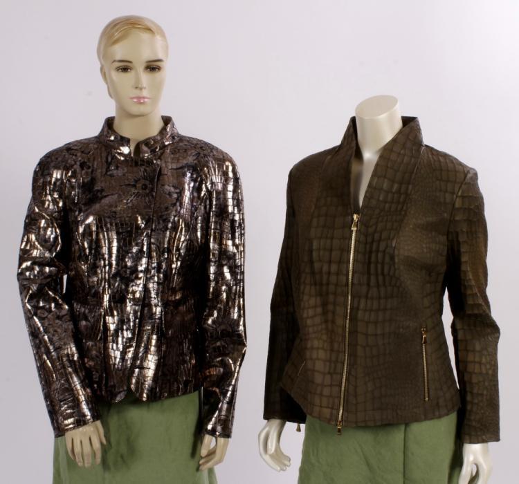 Armani & Escada Reptile Jackets