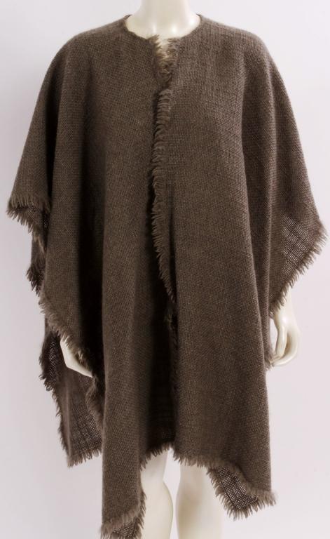 Vintage Armani Woven Poncho