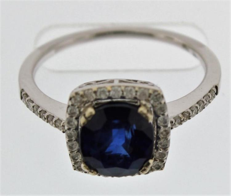 14k, Diamond and Sapphire Ring