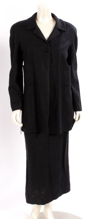 Chanel Black Linen 2 pc Outfit