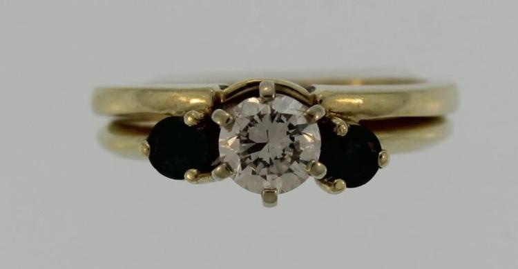 14K Yellow Gold Diamond Set