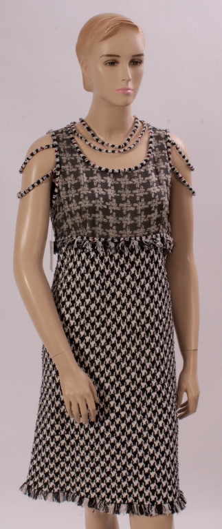 Chanel Houndstooth Dress
