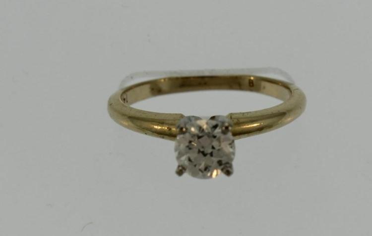 14K Yellow Gold & .65 ct Diamond