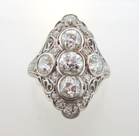 Platinum & Diamond Ring, 19/20th C