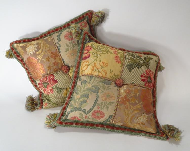 Pair of Silk Decorative Pillows