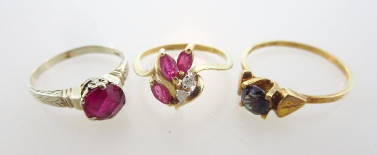 (3) 14K Gold Rings