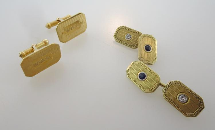 2 Pairs of 14K Gold Cufflinks