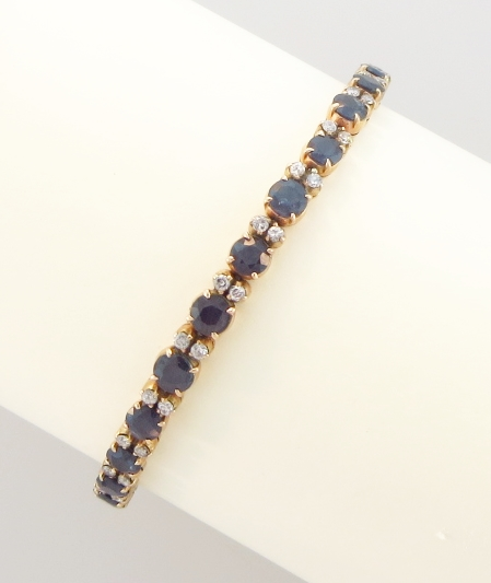 14k, Sapphire & Diamond Bracelet
