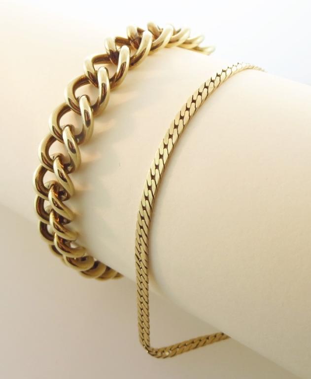 Two 14K Gold Bracelets