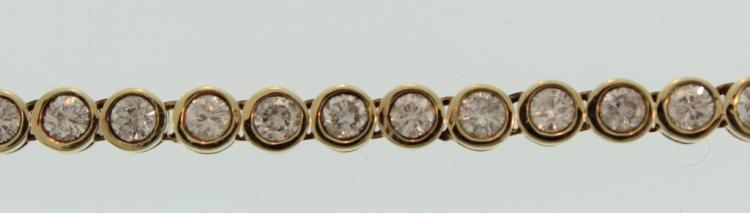 Gold & Diamond Bezel Set Bracelet