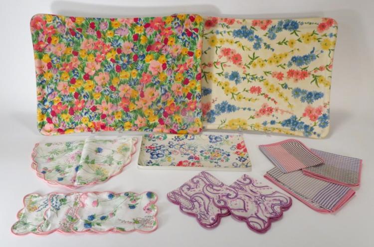 D. Porthault Floral Linens & Trays