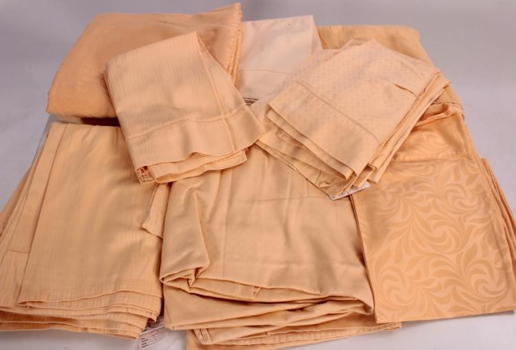 Frette Yellow & Peach Bed Linens