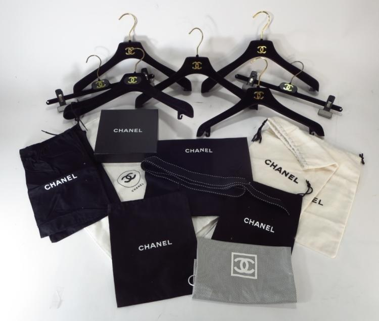 Lot of Chanel Hangers & Other Chanel Accessories
