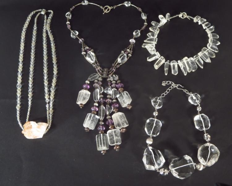 Rock Crystal Necklace & Others