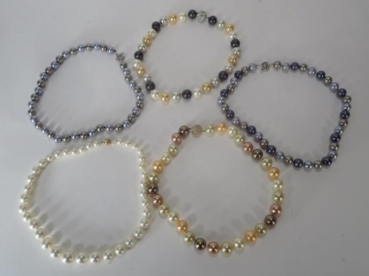 Faux South Sea Pearl Necklaces