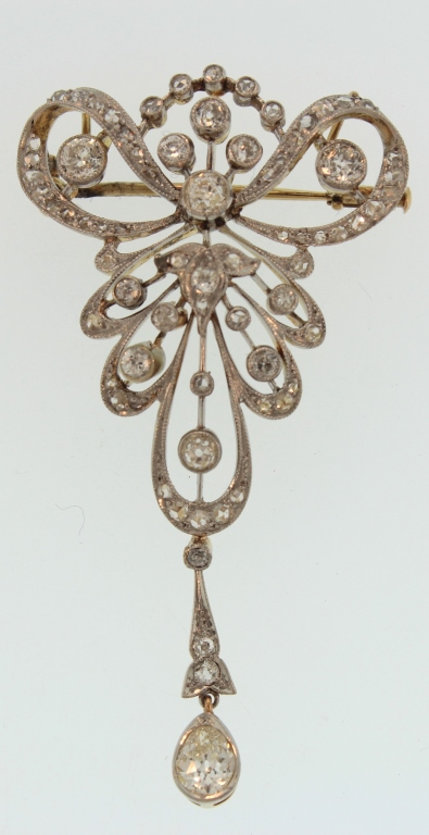 Platinum, Gold & Diamond Brooch