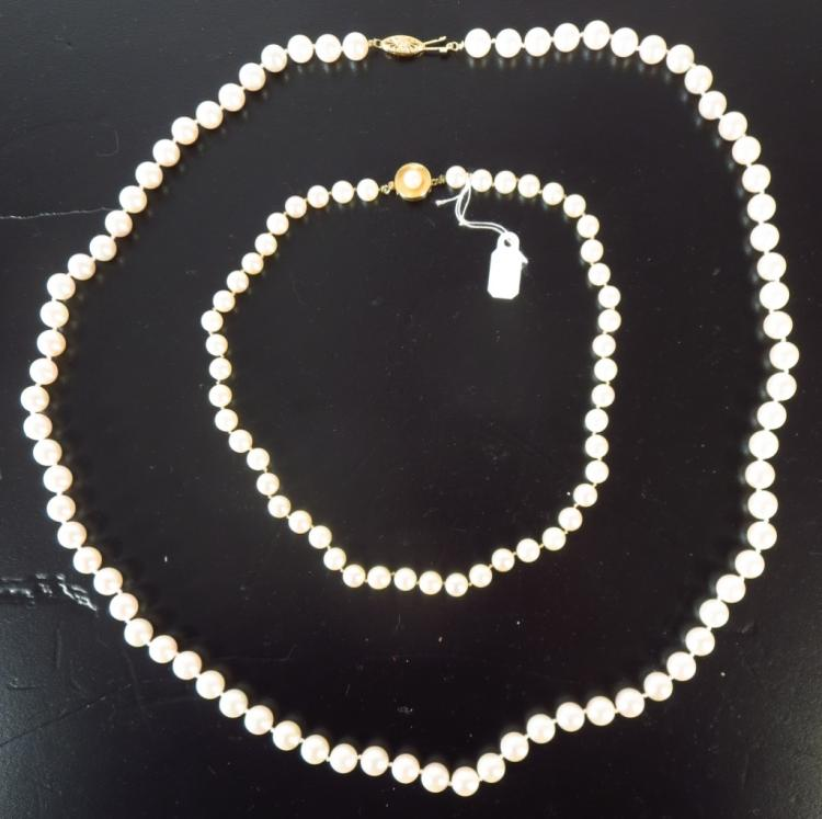 Pink Luster & Pearl Necklaces