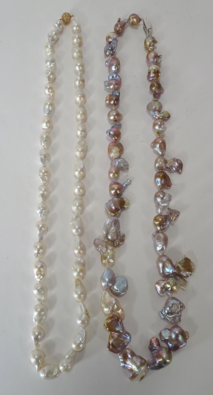 Two Baroque Freshwater Pearl Necklaces
