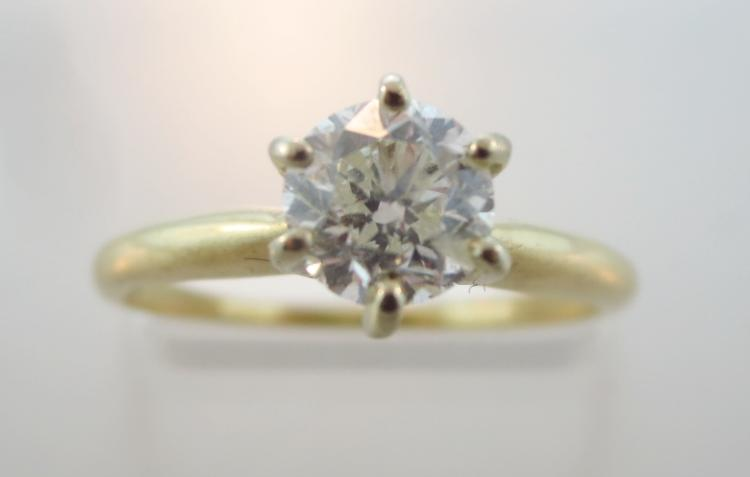 .75ct 14K Yellow Gold and Diamond Ring