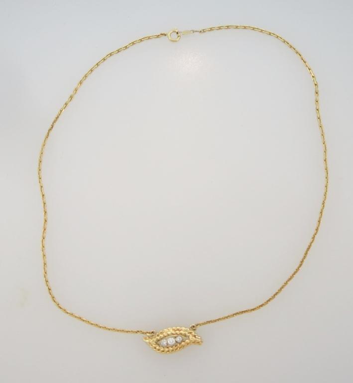 14k & Diamond Necklace