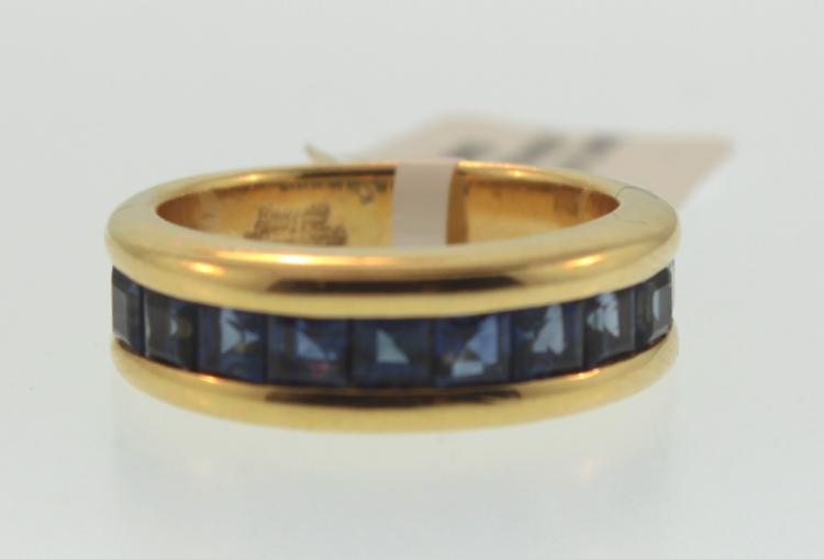 Sabbadini 18k gold,sapphire ring, Italy c.1970