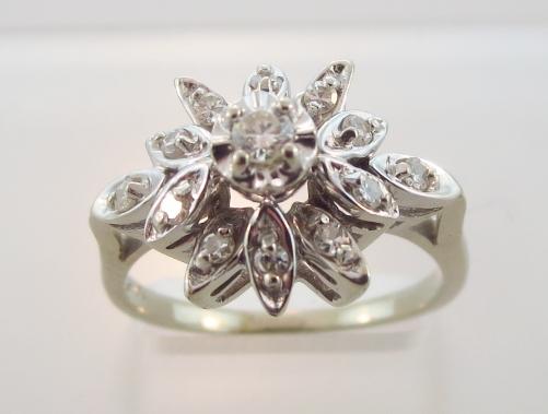 14K Gold & Diamond Cocktail Ring