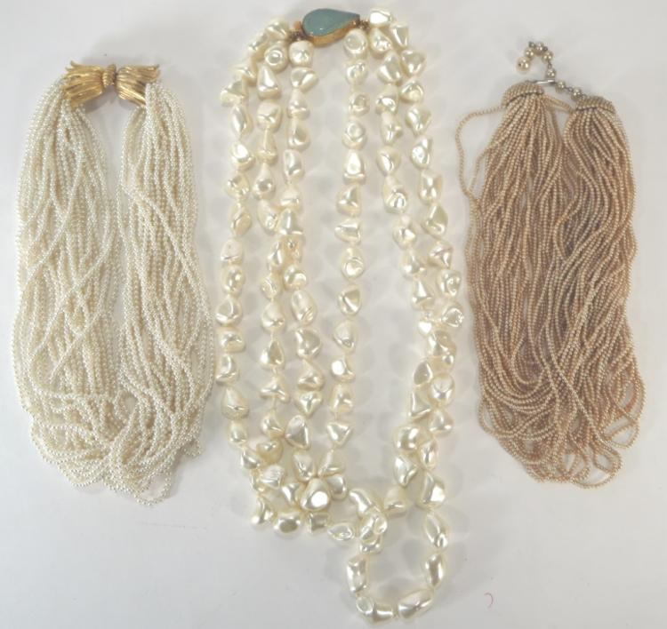 Vintage Faux Seed Pearl Necklace & Others