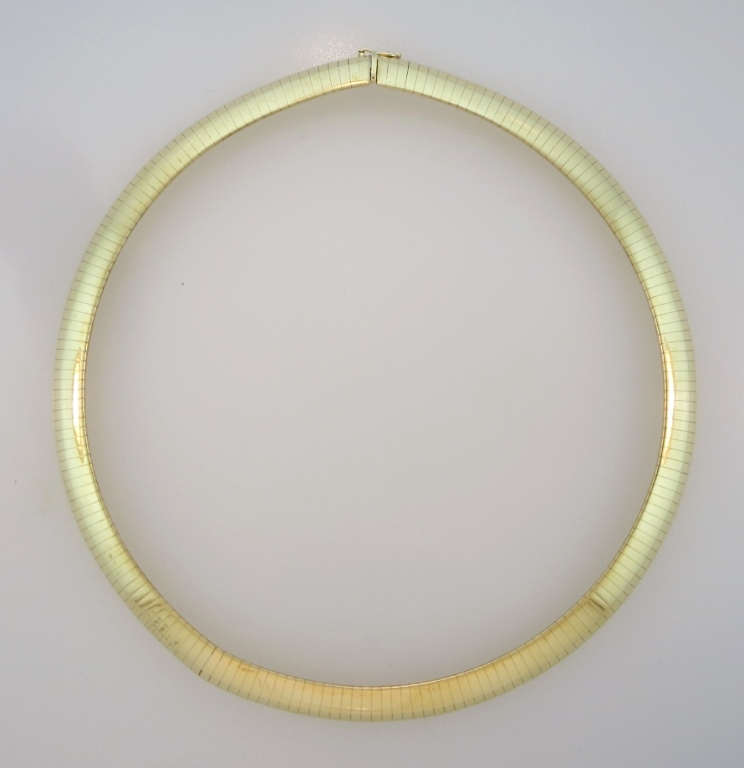 14K Gold Italian Choker, 20th C