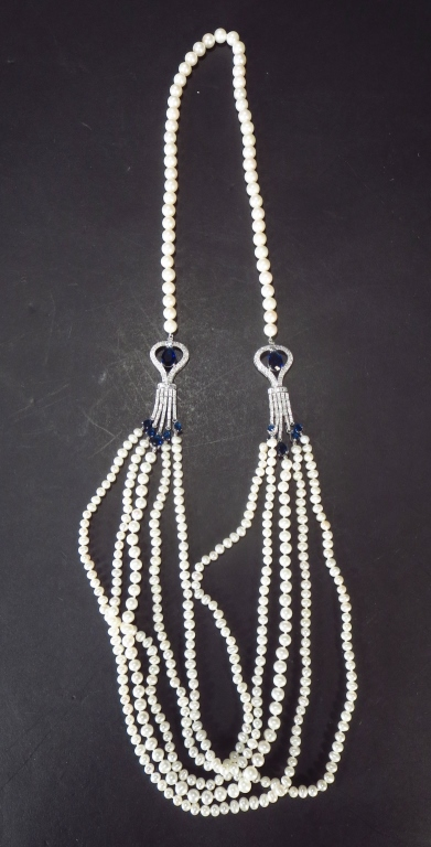 Edwardian Style Pearl Necklace