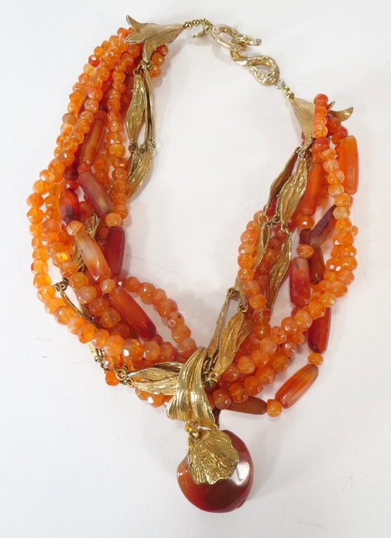 Yves St Laurent Vintage Agate Necklace