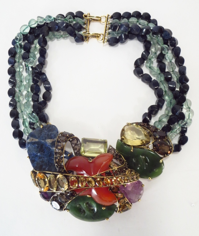 C & D Jewelry Chunky Hardstone Necklace