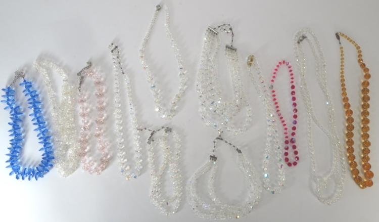 Group of 12 Crystal Necklaces