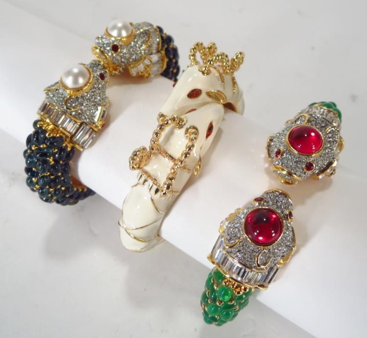 Kenneth Jay Lane Fish Head Bracelets