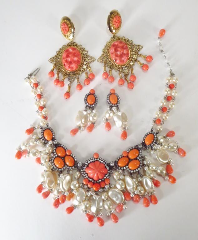 VBRA Coral & Pearl Jewelry