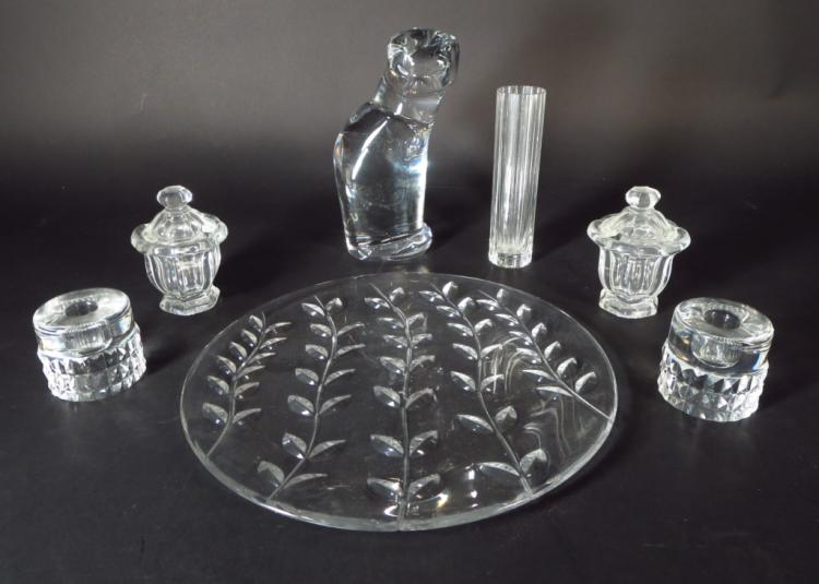 Lot of 7 Crystal Items Tiffany Orrefors & Baccarat
