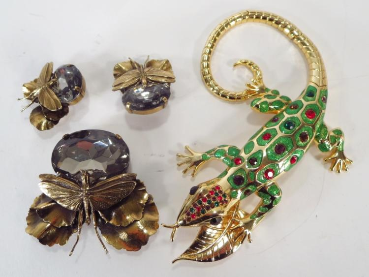 Vintage Ermani Bulatti Insect Pin & Earrings
