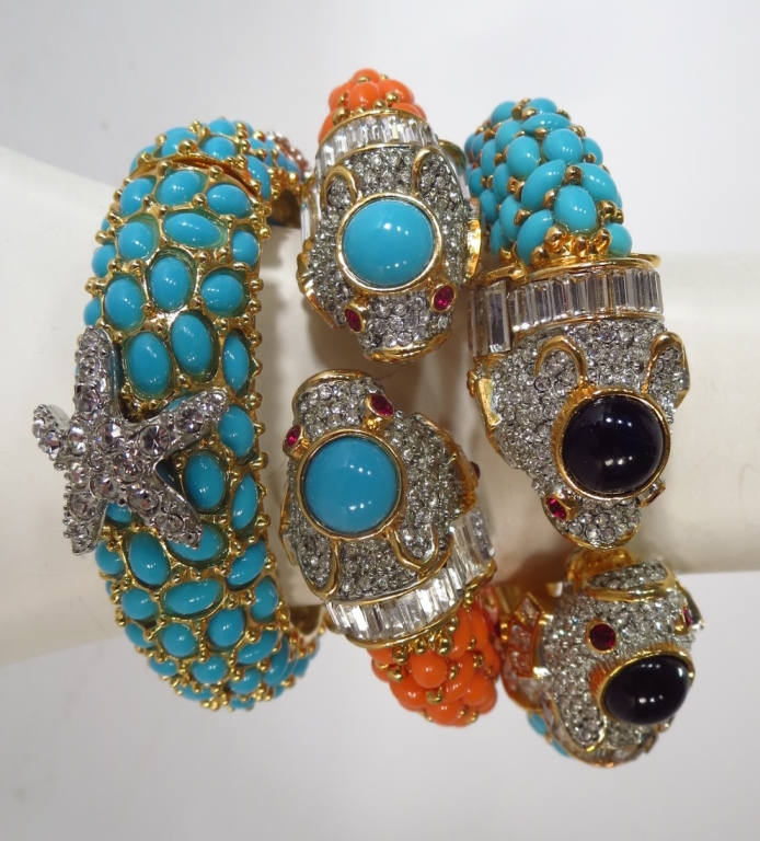 Kenneth Jay Lane Jeweled Bracelets