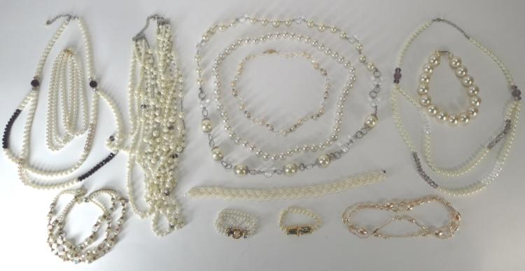 Lot of Costume Pearl Jewelry