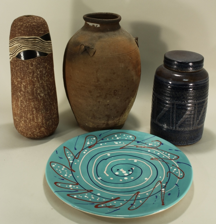 Group of Four Pieces of Art Pottery