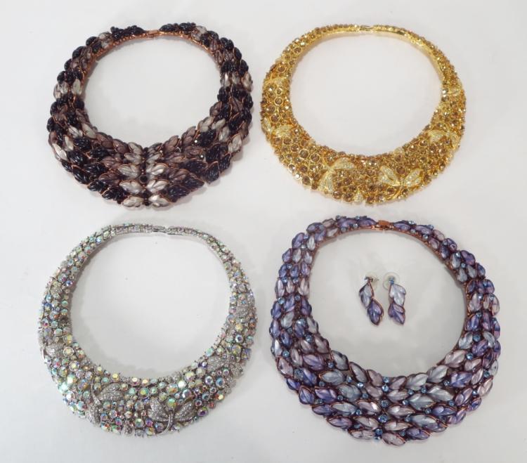 Dragon Fly & Leaf Collar Necklaces
