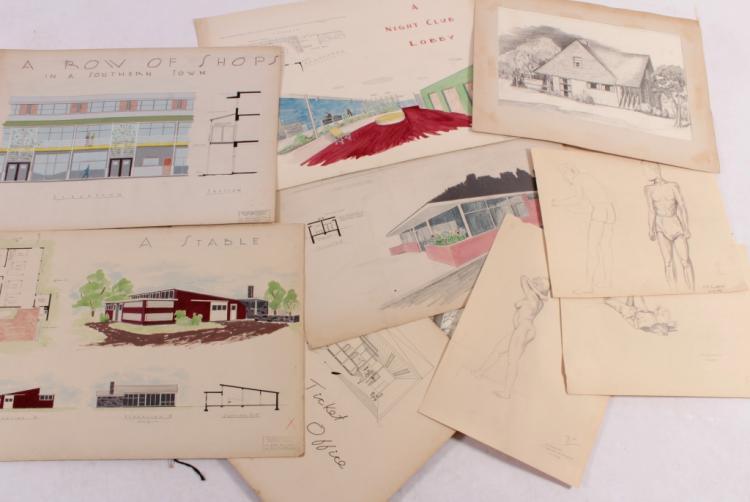 E E Tompkins, c. 1950 Art/Architectural Portfolio