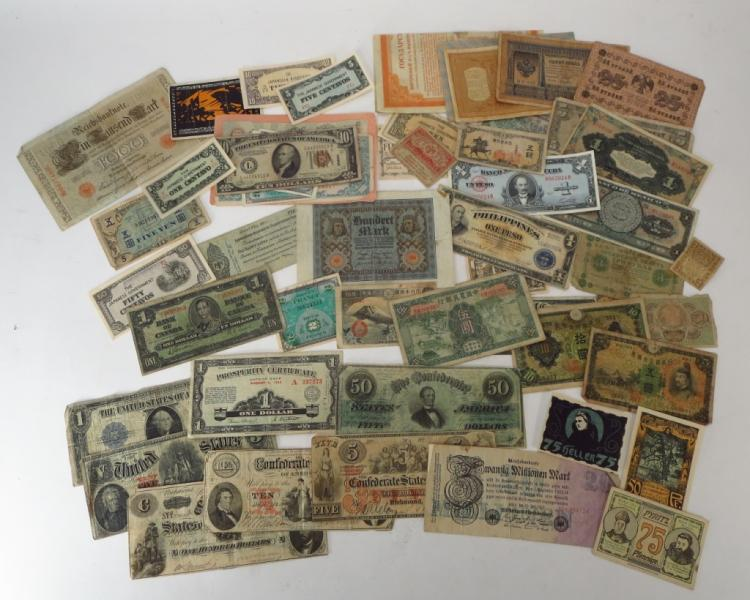 Confederate Bank Notes & Others, 19th/20th C.