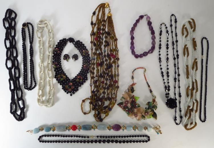 Lot of Costume Beaded Necklaces