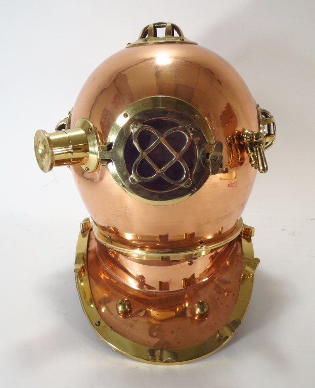 Brass Diving Helmet, Replica, 20th c.